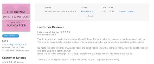 iTunes - Elise Estrada - Wonder Woman