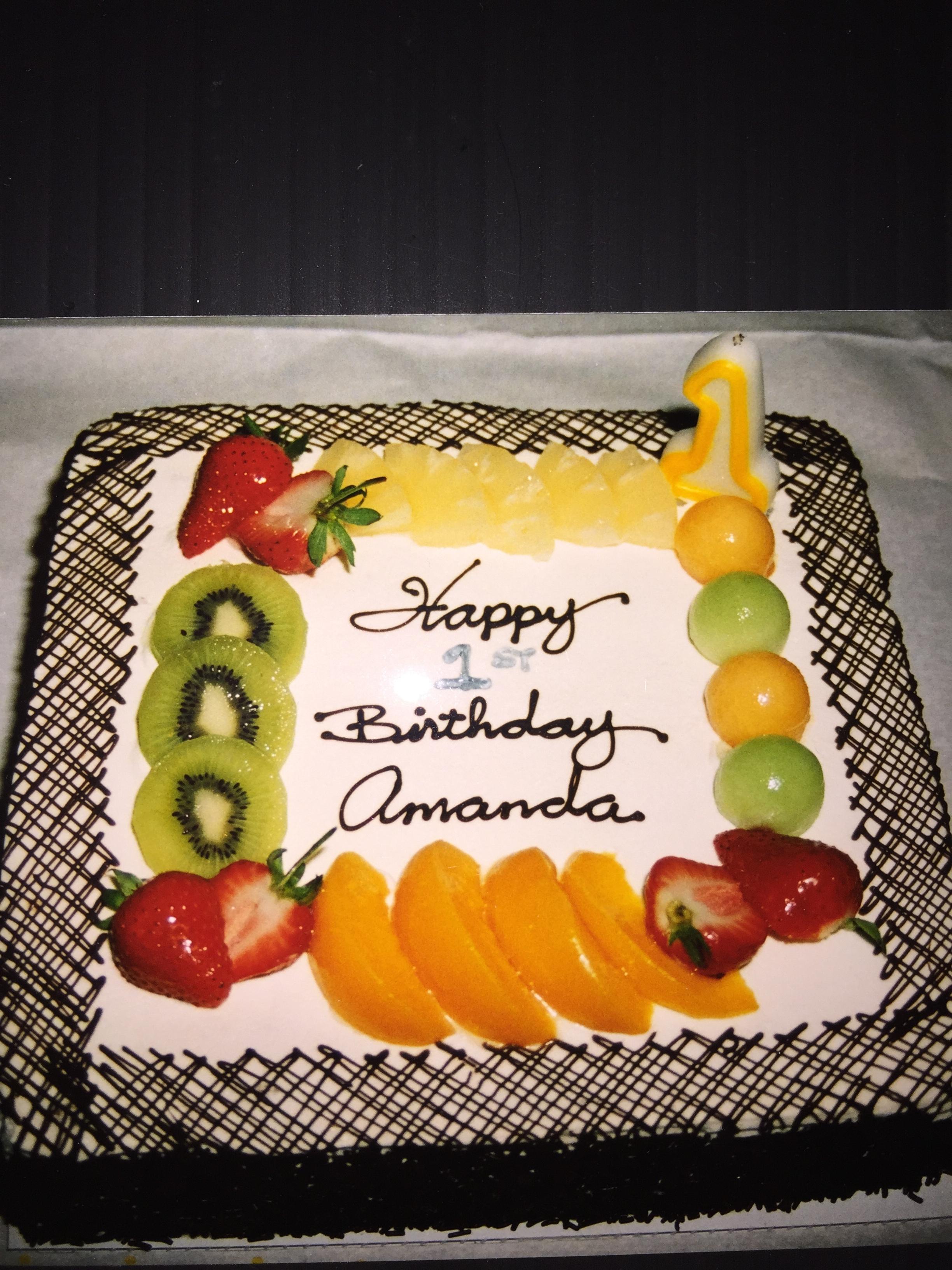 Happy Birthday Amanda Cake Brithday Cake